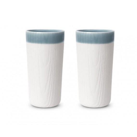 Verre Lake - MU - Blanc / Bleu Ciel x2 - Livraison Offerte