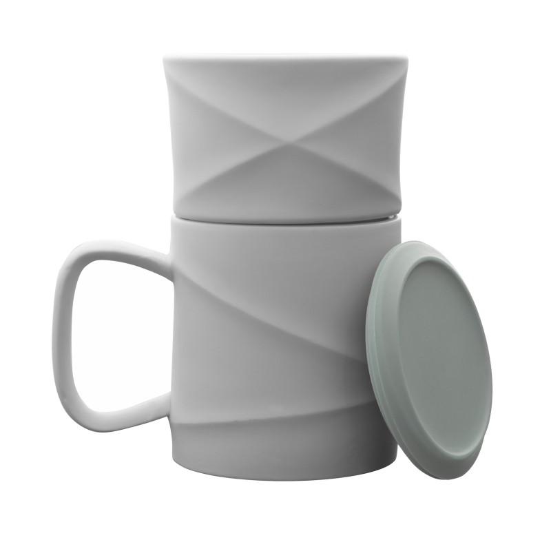 Mug - WAVE - Blanc/Vert - Livraison Offerte