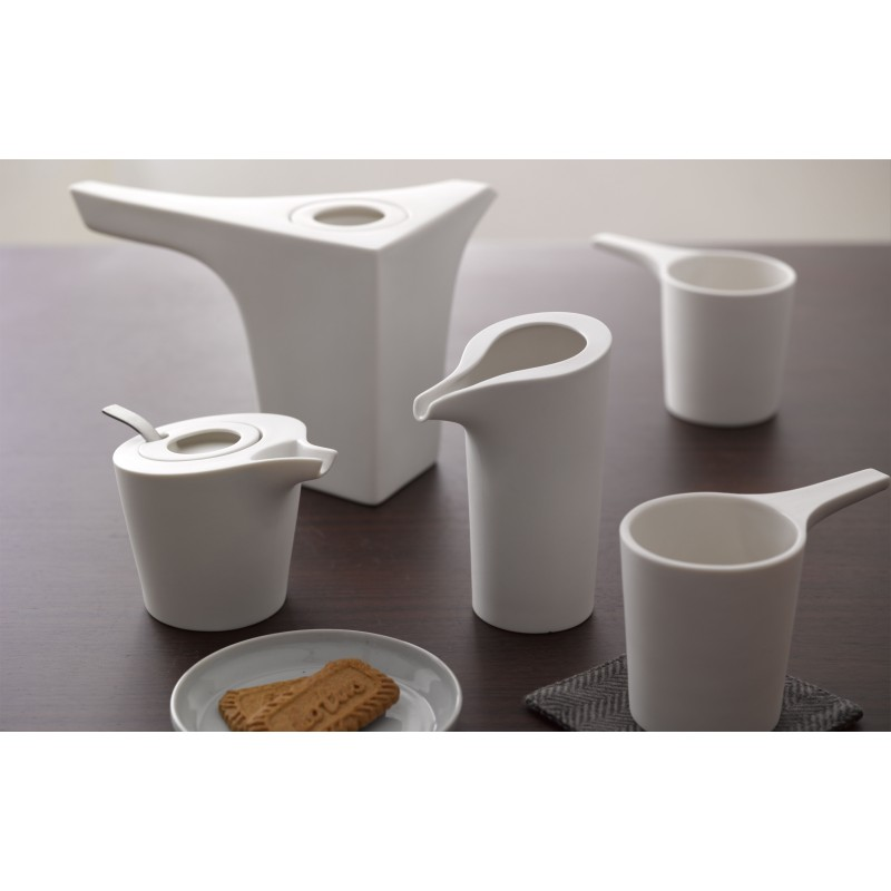 Service à thé - ARCHI - Blanc - Livraison Offerte