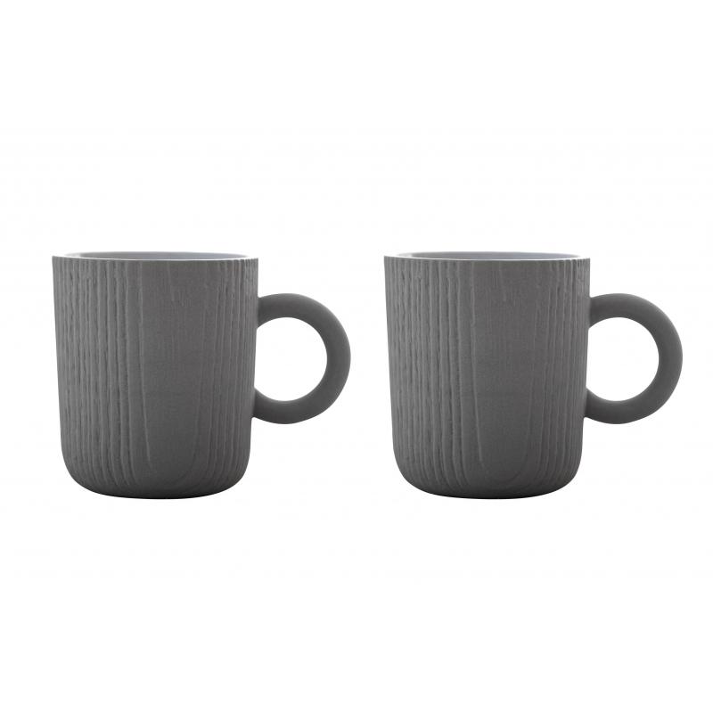 tasse expresso mu grise x2 tasses. Black Bedroom Furniture Sets. Home Design Ideas