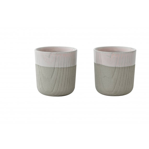 Mini Tasse - MU - Grise/Rose x2