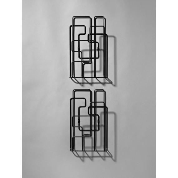 Porte Revues Mural - LITTLE SATURDAY - Noir x2