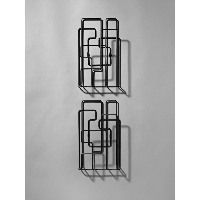 Porte Revues Mural - LITTLE SATURDAY - Noir x2 - Livraison
