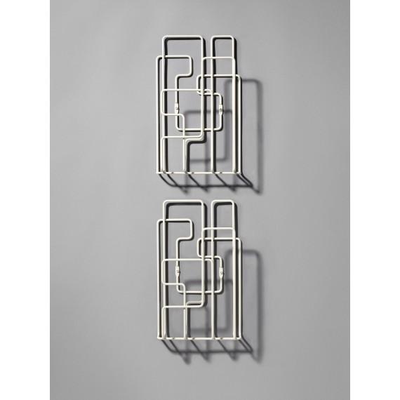 Porte Revues Mural - LITTLE SATURDAY - Blanc x2