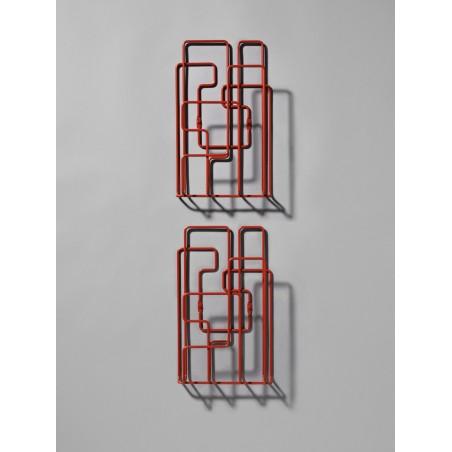 Porte Revues Mural - LITTLE SATURDAY - Rouge x2