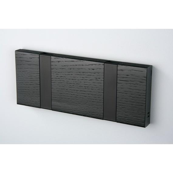 Porte Manteaux 2 crochets - KNAX - Chêne Noir