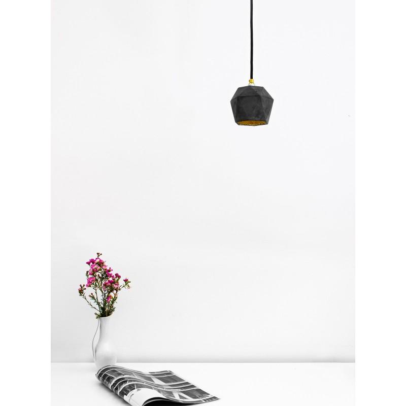 Suspension - T2 - Béton Noir - Or - Livraison Offerte