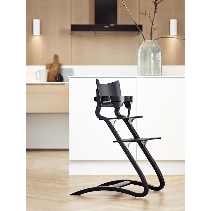 chaise haute leander h tre noir chaises. Black Bedroom Furniture Sets. Home Design Ideas
