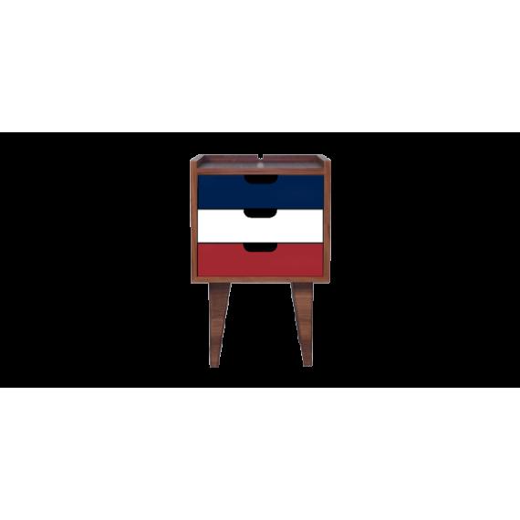 Table de chevet - OSNS Red - Noyer - Livraison Offerte