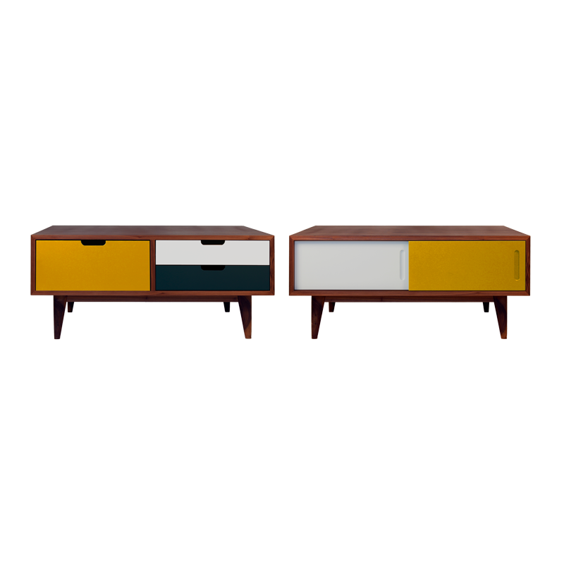 table basse osct yellow noyer tables basses. Black Bedroom Furniture Sets. Home Design Ideas