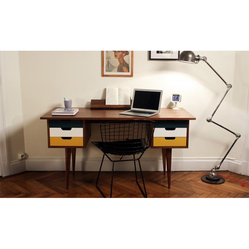 Bureau osd blue noyer bureaux for Bureau noyer