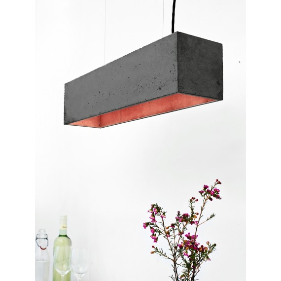 Suspension - B4 - Béton Noir - Cuivre