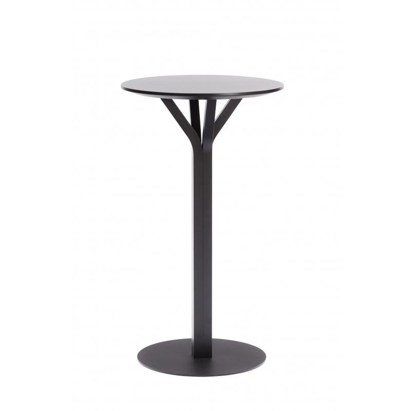 Table de bar ronde bloom h tre noir tables for Table de bar noir