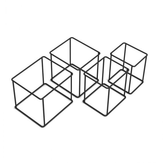 Modules Etagères - QUAKE - Noir x4 - Livraison Offerte