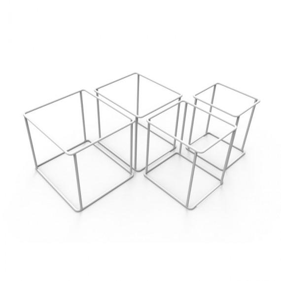 Modules Etagères - QUAKE - Blanc x4 - Livraison Offerte