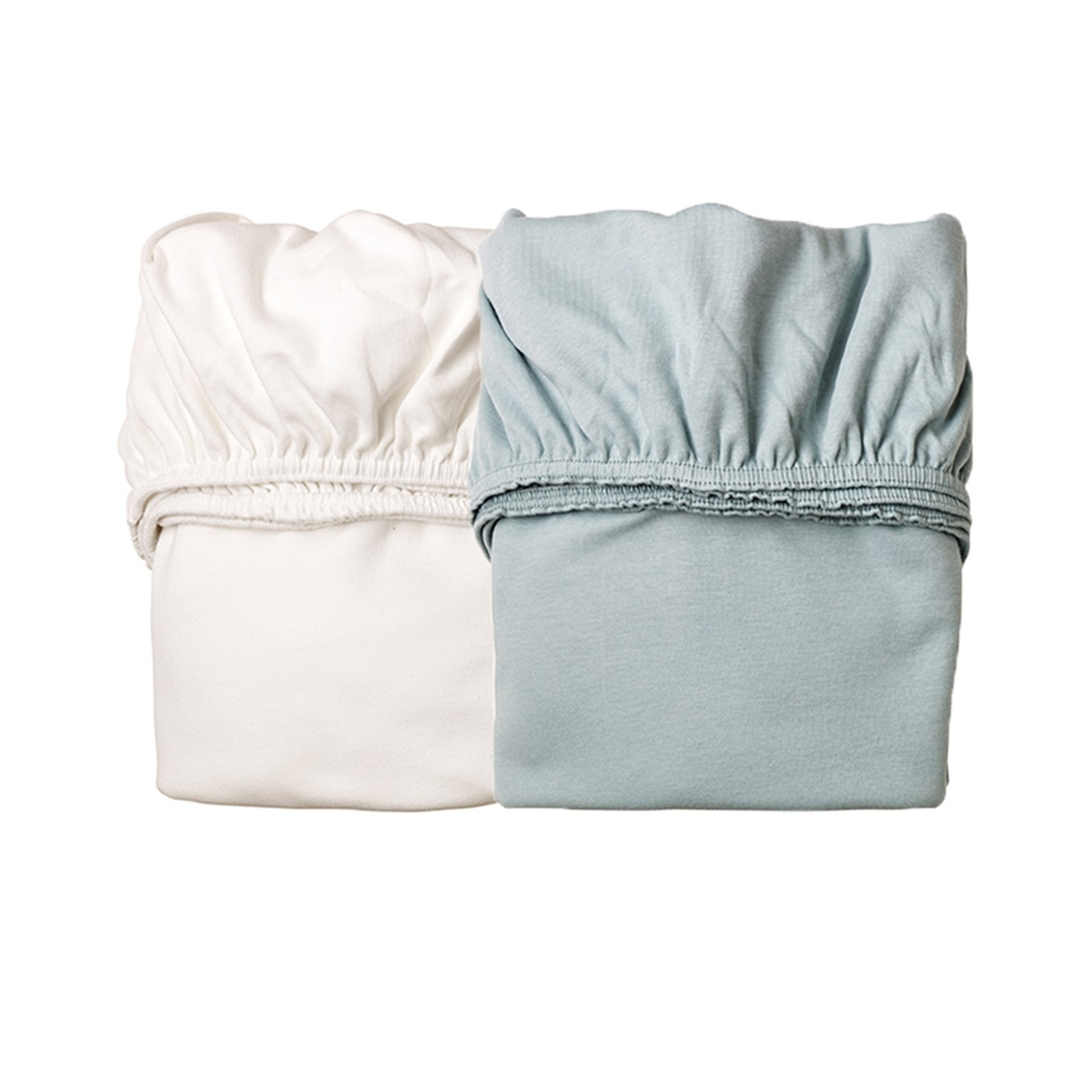 drap housse pour berceau leander bleu x2