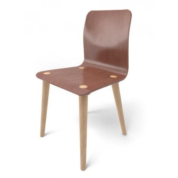 Chaise - MALMO - Chêne Brown x2 - Livraison Offerte