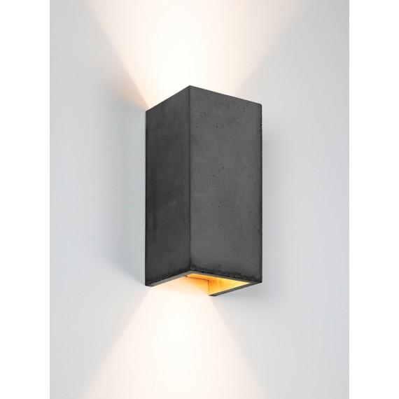 Applique Murale - B8 - Béton Noir - Or