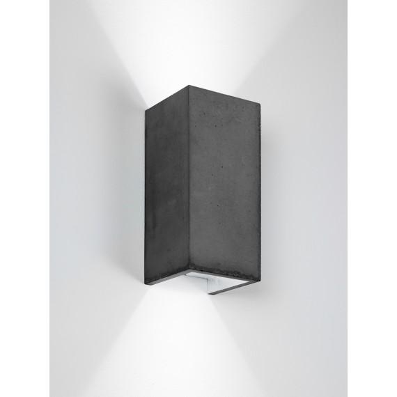 Applique Murale - B8 - Béton Noir - Argent