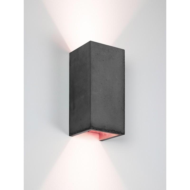 Applique Murale - B8 - Béton Noir - Cuivre - Livraison offerte