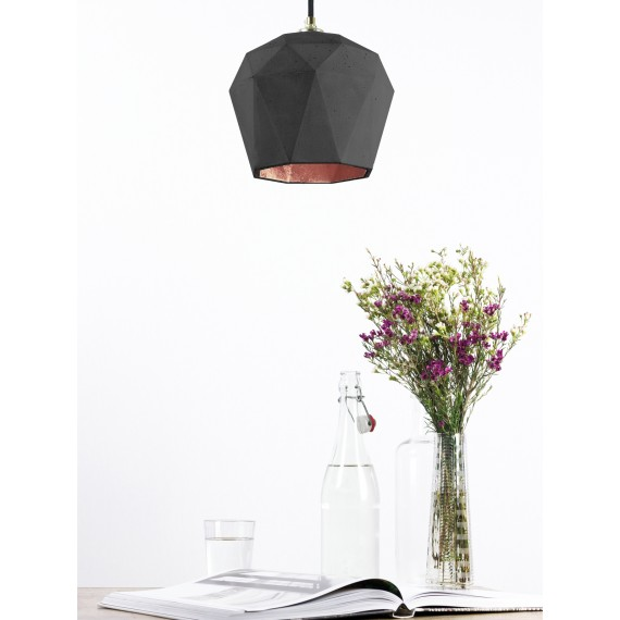 Suspension - T3 - Béton Noir - Cuivre