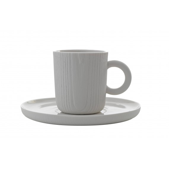 Tasse et Soucoupe Expresso - MU - Blanche