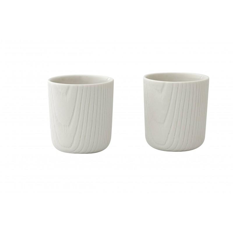 Mini Tasse - MU - Blanche x2 - Livraison Offerte