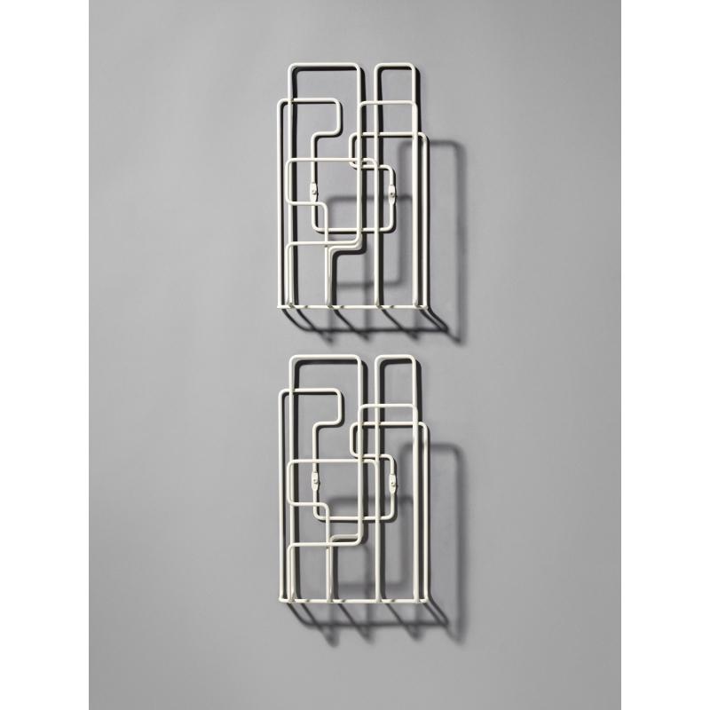 porte revues mural little saturday blanc x2. Black Bedroom Furniture Sets. Home Design Ideas