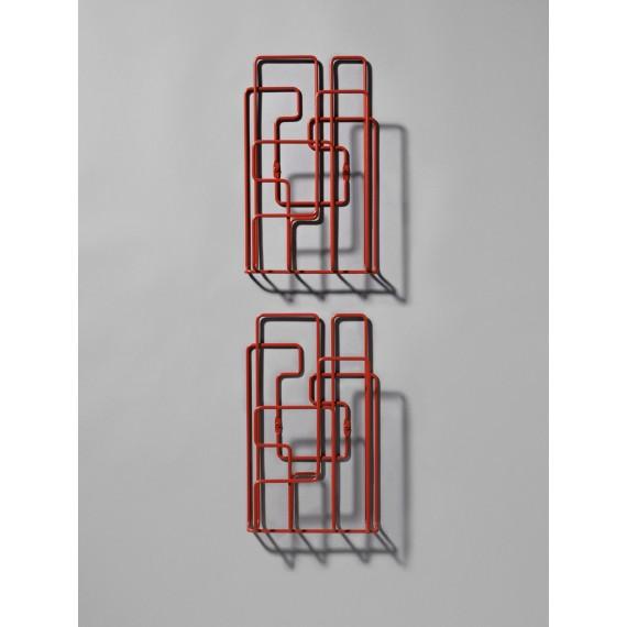 Porte Revues Mural - LITTLE SATURDAY - Rouge x2 - Livraison