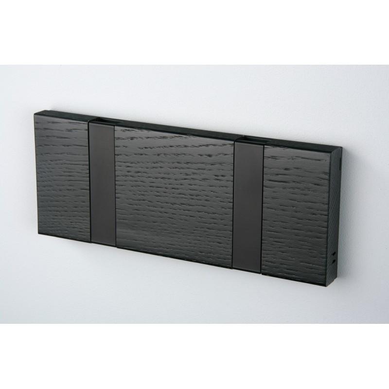 Porte Manteaux 2 crochets - KNAX - Chêne Noir - Livraison