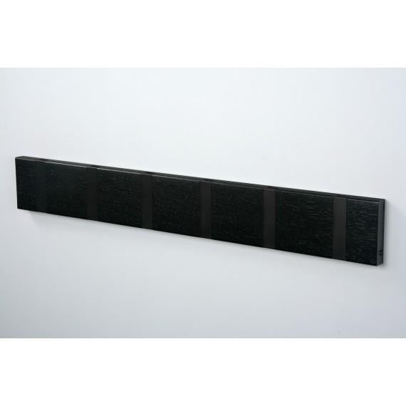 Porte Manteaux 6 crochets - KNAX - Chêne Noir - Livraison