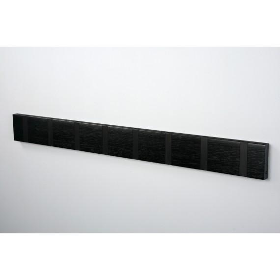 Porte Manteaux 8 crochets - KNAX - Chêne Noir