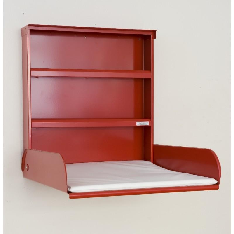 Table à Langer Murale - FIFI - Acier Rouge - Livraison offerte