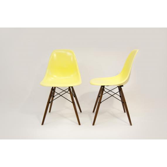 Chaise Eames DSW Herman Miller - Jaune Citron x2