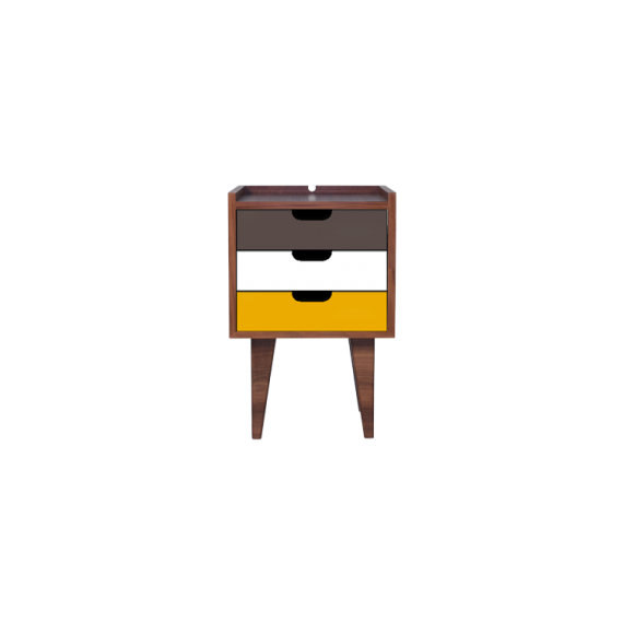 Table de chevet - OSNS Yellow - Noyer