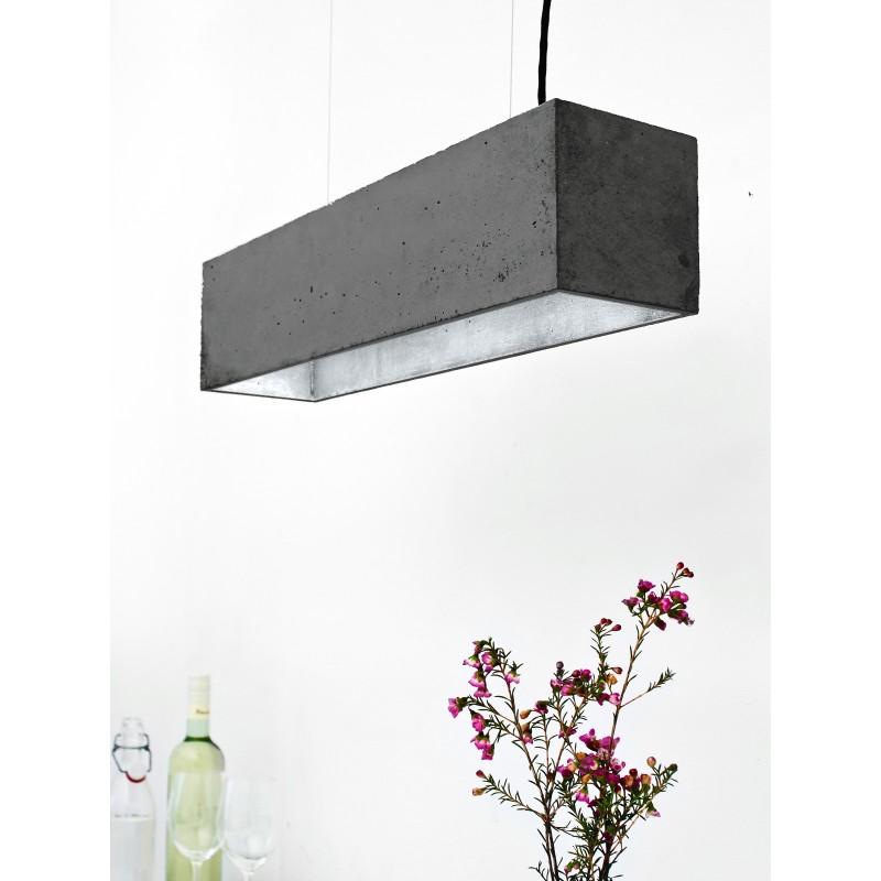 Suspension - B4 - Béton Noir - Argent - Livraison