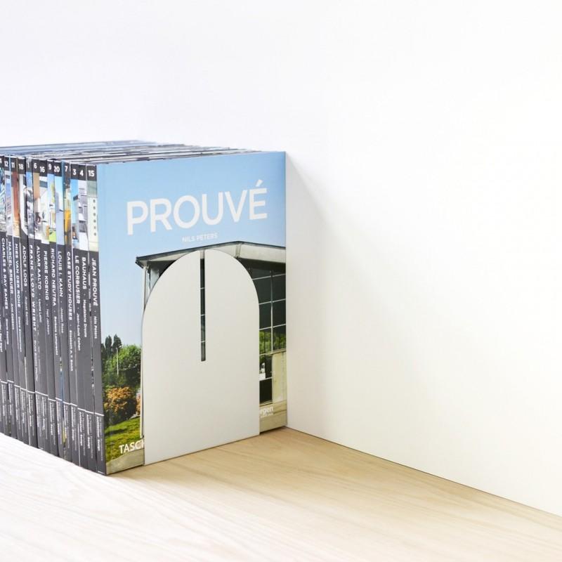 Serre-Livres Trio - ELEMENT - Blanc - Livraison Offerte