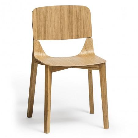 Chaise - LEAF - Chêne x2