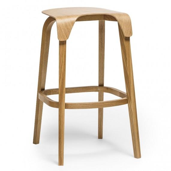 Chaise de bar - LEAF - Chêne - Livraison Offerte