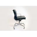 Fauteuil Eames Soft Pad EA217 - Cuir Noir - Livraison offerte