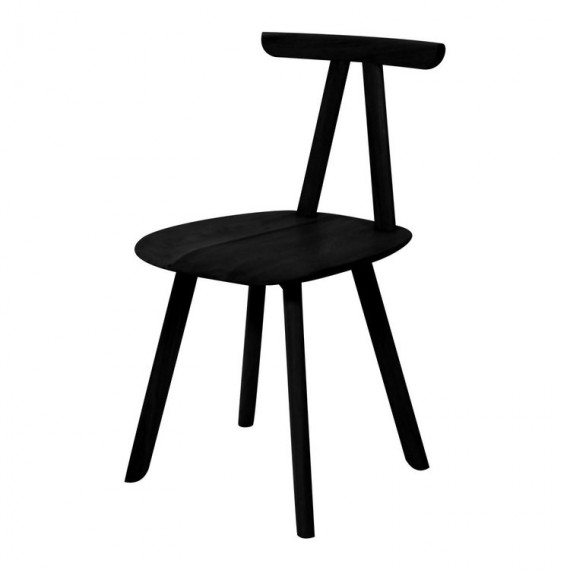 Chaise - JUKA - Chêne Noir - Livraison offerte