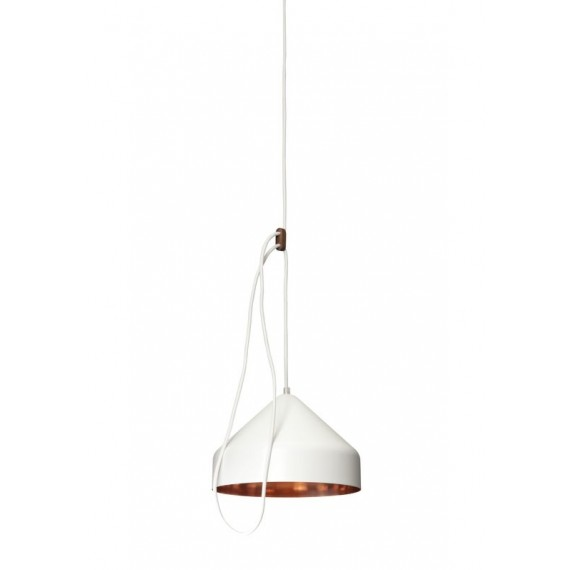 Suspension - LLOOP - Cuivre - Blanc
