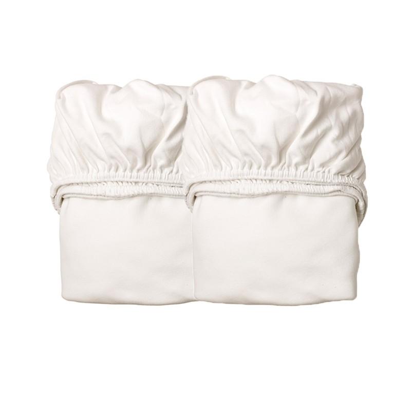Drap Housse pour Berceau - LEANDER - Blanc x2 - Livraison