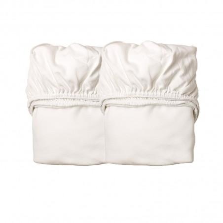 Drap Housse pour Berceau - LEANDER - Blanc x2