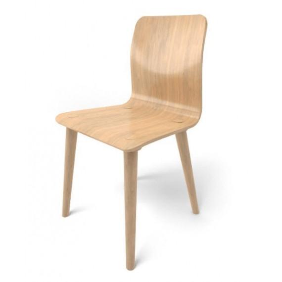 Chaise - MALMO - Chêne x2 - Livraison Offerte