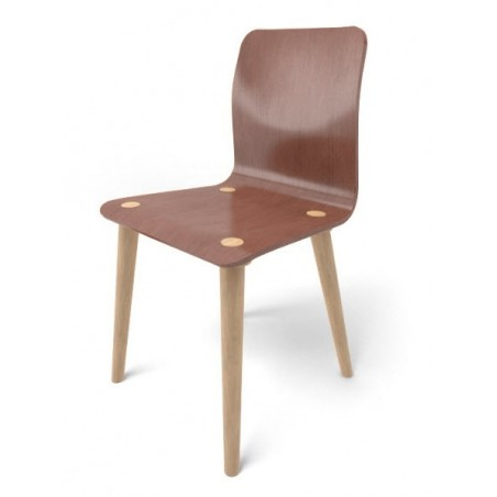 Chaise - MALMÖ - Chêne Brown x2