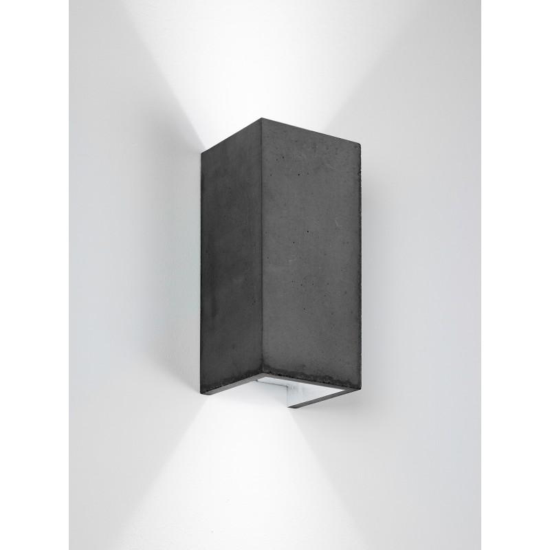 Applique Murale - B8 - Béton Noir - Argent - Livraison offerte