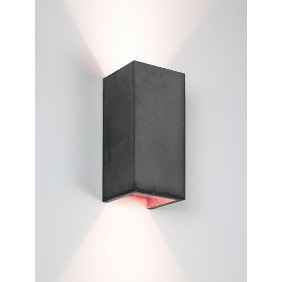 Applique Murale - B8 - Béton Noir - Cuivre