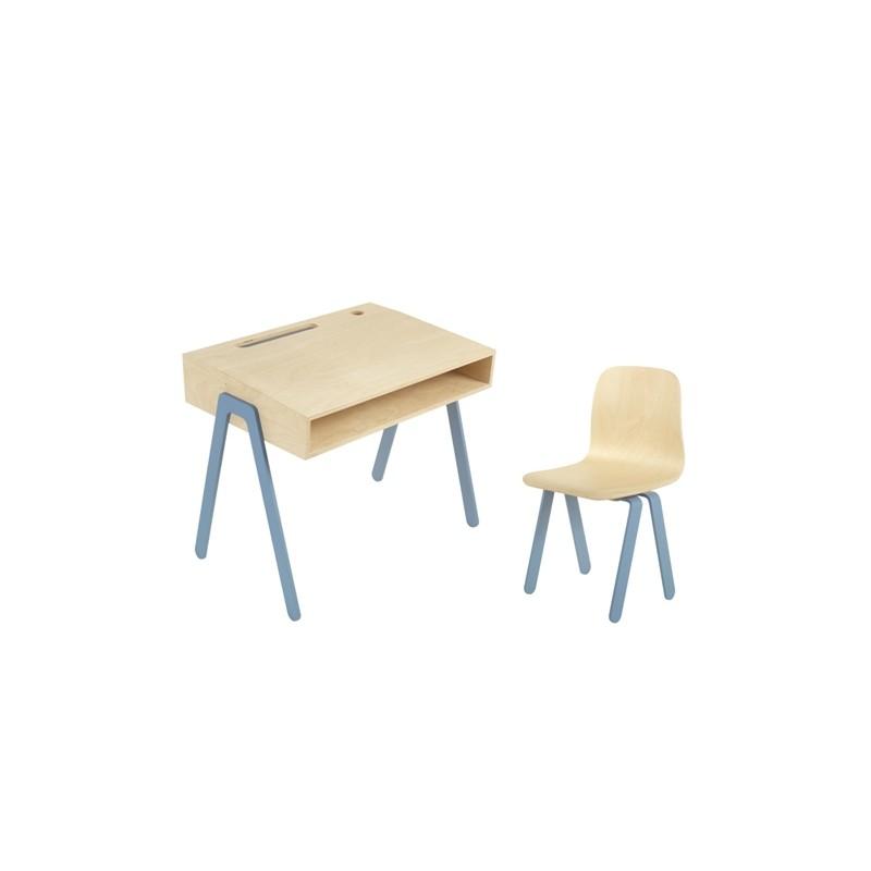 Bureau Enfant Small - IN2WOOD - Bleu - Livraison offerte