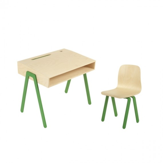 Bureau Enfant Small - IN2WOOD - Vert